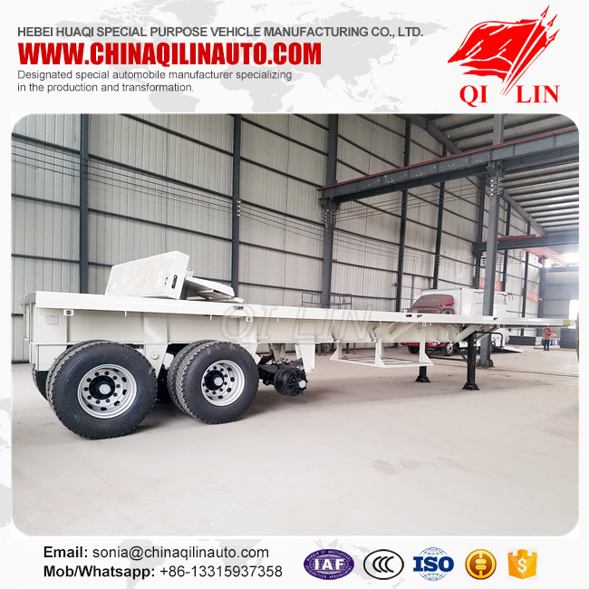 Heavy Duty Flatbed Semi Trailers with Rear Part Cutted