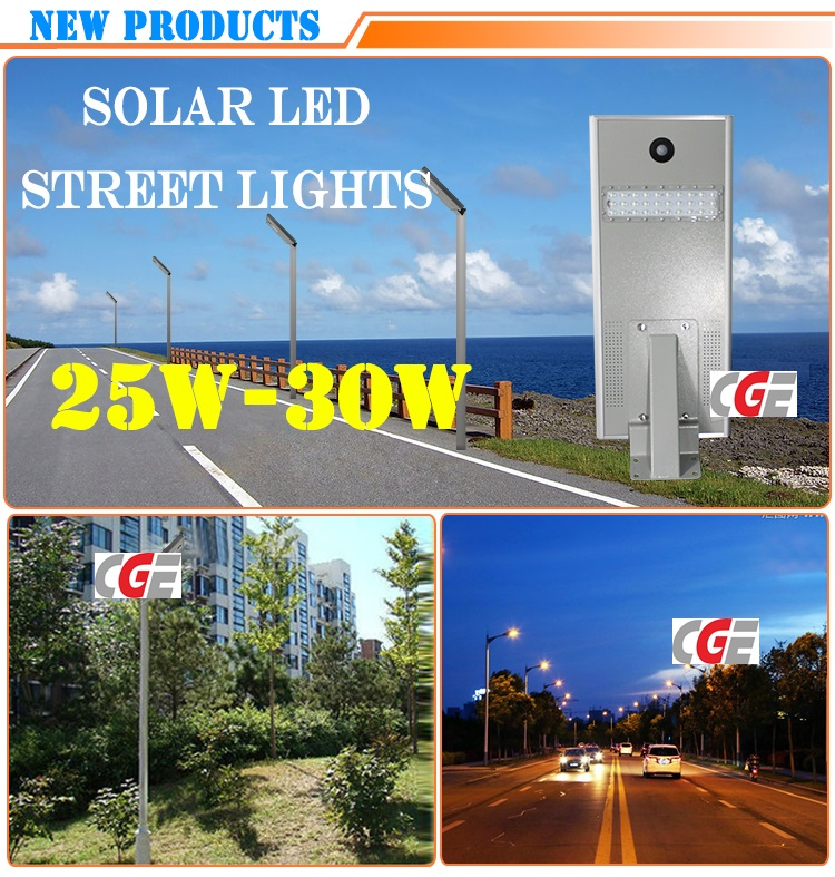 25W High Power Bridgelux PIR Die Cast Aluminum LED Road Light