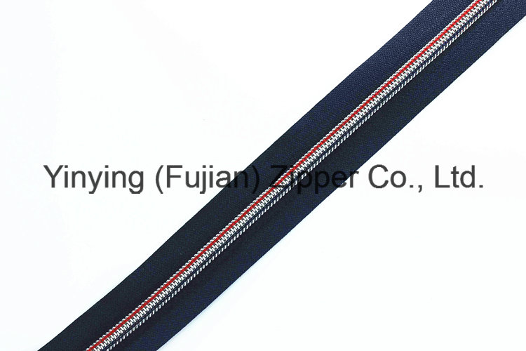 Nylon Long Chain Zipper with Color Teeth for Outdoor