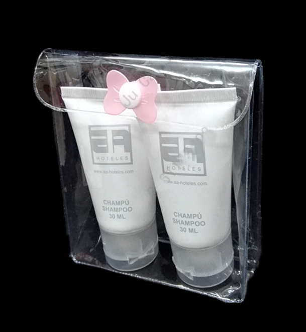 Clear PVC Zip Bag for Cosmetic and Packing