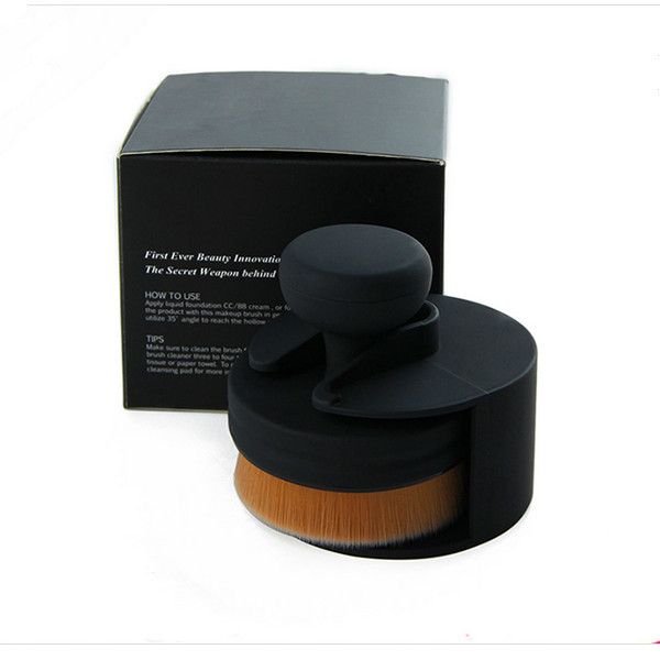 3D Contour Curved Brushes Seal Shape Foundation Makeup Brush