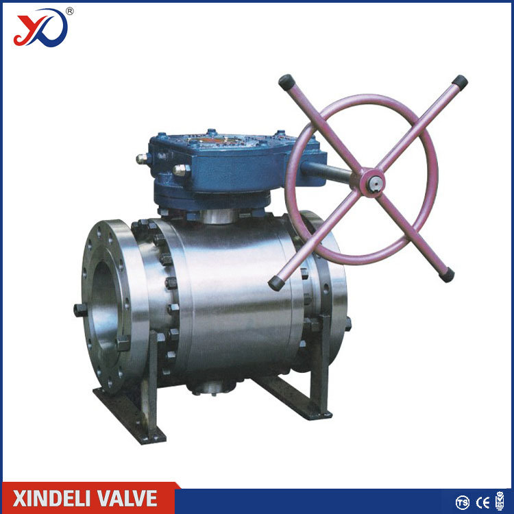 GOST Standard Flange Connection Trunnion Mounted Ball Valve