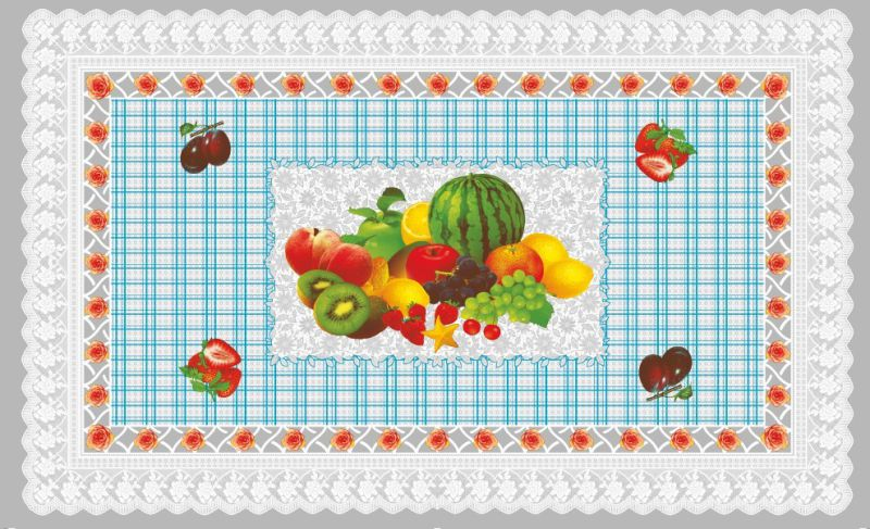 LFGB 80*130cm New Independent Design PVC Material Transparent Printed Tablecloth