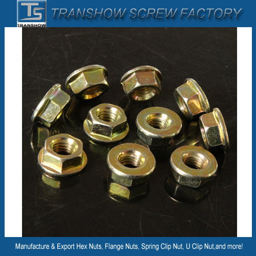 Factory Price Carbon Steel DIN6923 Hexagon Flange Nuts M6 with Flat