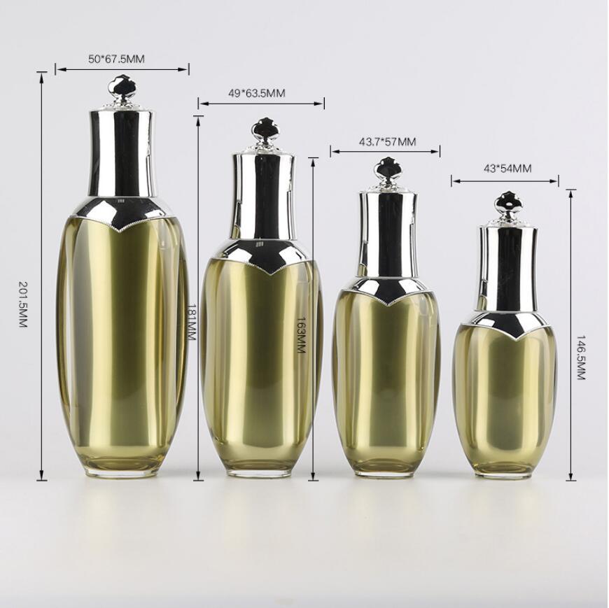 15/30/50/70g acrylic cover spray bottle and cream jar