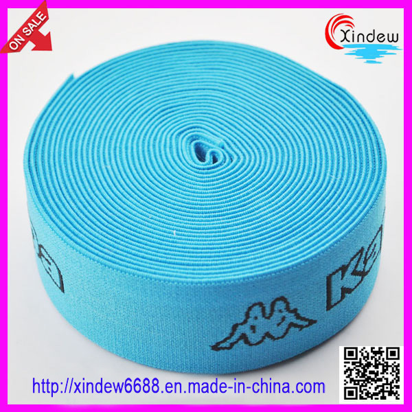 High Quality Black Woven Knitted Elastic Tape (XDWK-001)