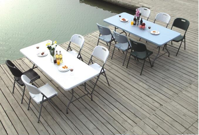 Best Selling Table in Europe, Plastic Half Folding HDPE Table From China Manufacturer, Lifetime Hot Sale Folding Table