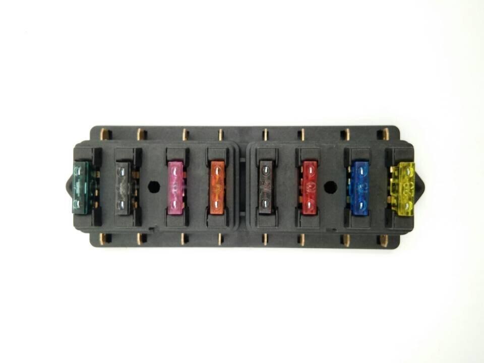 8 Way Circuit Standard ATO Blade Fuse Box Block Holder