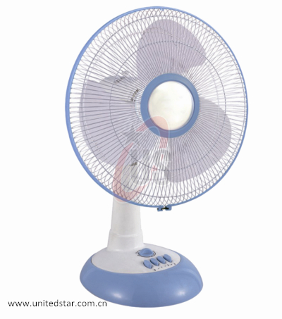 Good Design 12/16 Inch 3 PP Blade Table Fan Blue Color