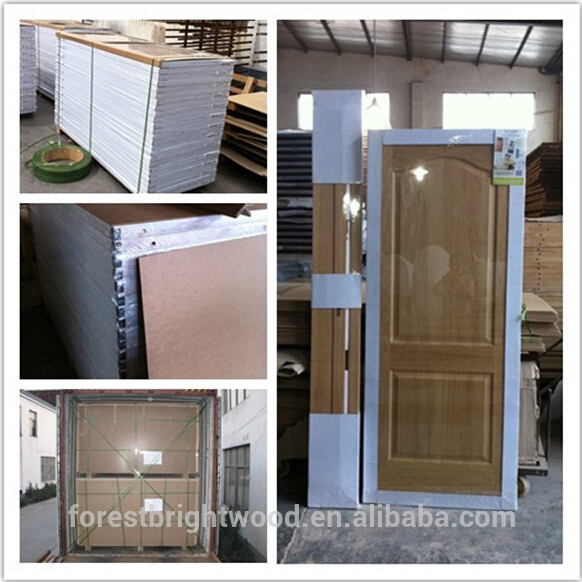2 Panel Veneer Interior Moulded Wooden Doors Design with Fsc S9-609