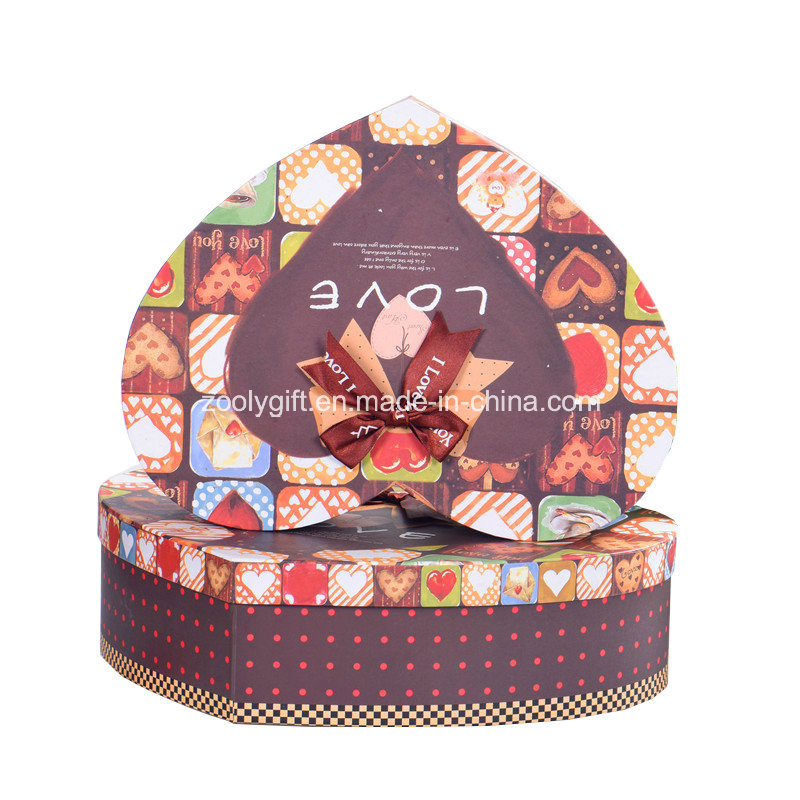 Printing Love Heart Shaped Chocolate Packaging Boxes