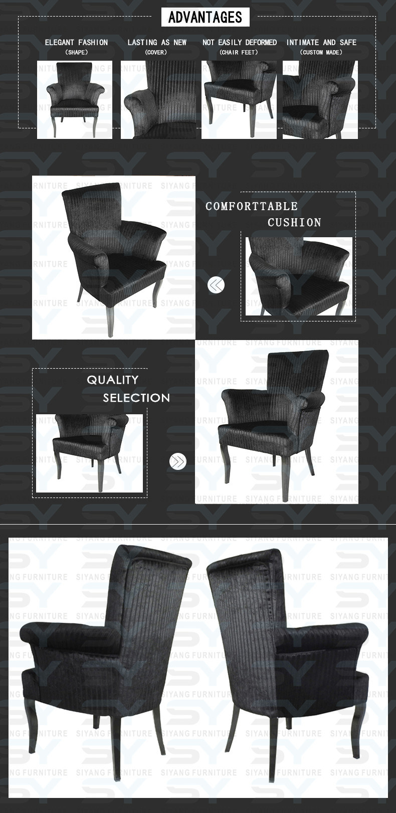 Home Furniture Chair Used Banquet Chair Modern Leather Dining Chair
