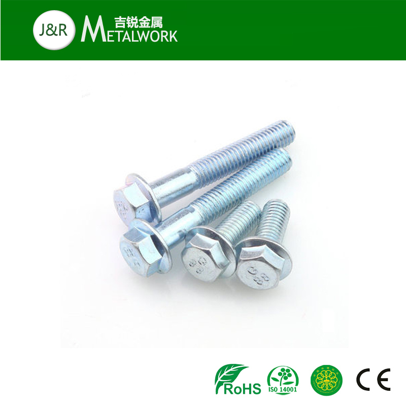 Carbon Steel Galvanzied Zinc Plated DIN6921 Hex Flange Bolt