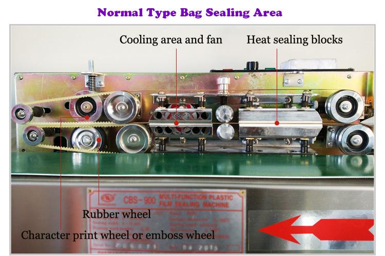 Factory Outlet Electric Continous Vertical Type Heat Sealing Machine Band Sealer for POF PE PVC Film, Aluminum Foil and Plasctic Bag
