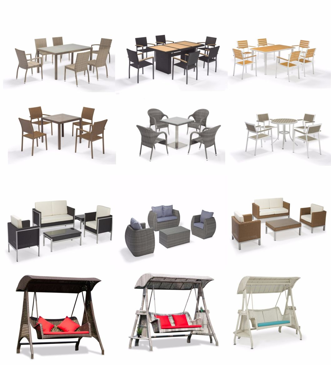 New Design Synthetic Rattan Aluminum Outdoor Furniture Sofa for Garden & Hotel