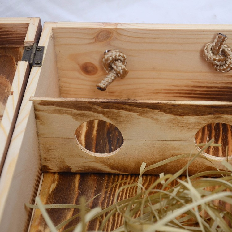 2 bottle wooden wine box
