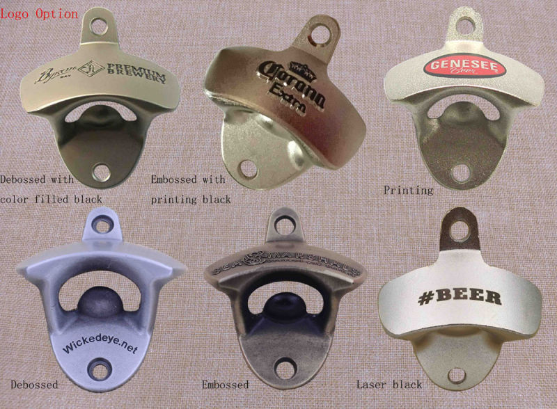 Promotion Metal Gifts Bottle Opener Custom Logo on Various Styles Bottle Opener