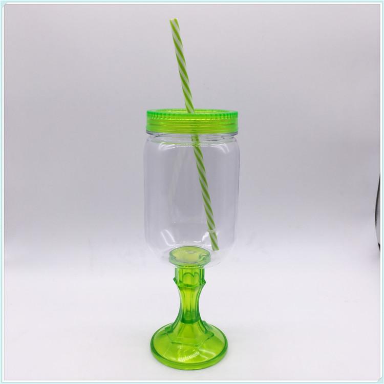 Hot Sale Plastic Auto Mug with Straw (SH-PM33)