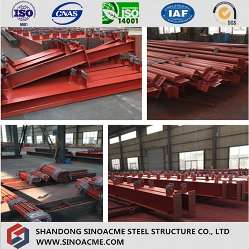Movable Steel Structure Hardware Shop with Flat Roof