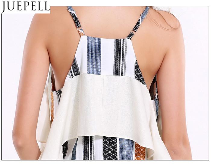 Women Sexy Deep V Flouncing Sleeve Striped Straps Strapless Tops Wild Women Small Shirt Blouse
