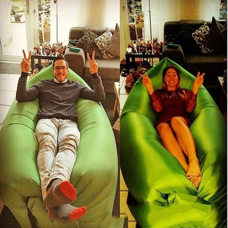 Waterproof Inflatable Sleeping Bags Nylon Material Air Lounger Sofa