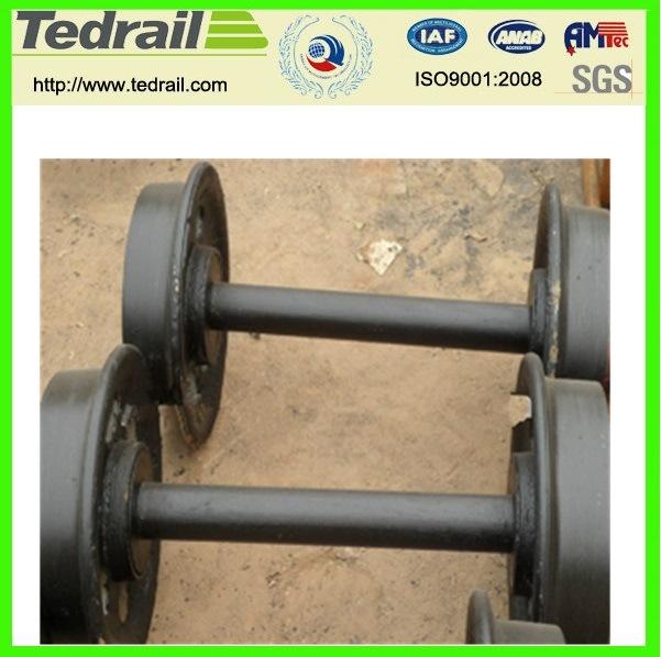 Customizable Strength Loading Cast Iron or Cast Steel Mine Car Wheel Set/Coal Mining Wagon Wheel
