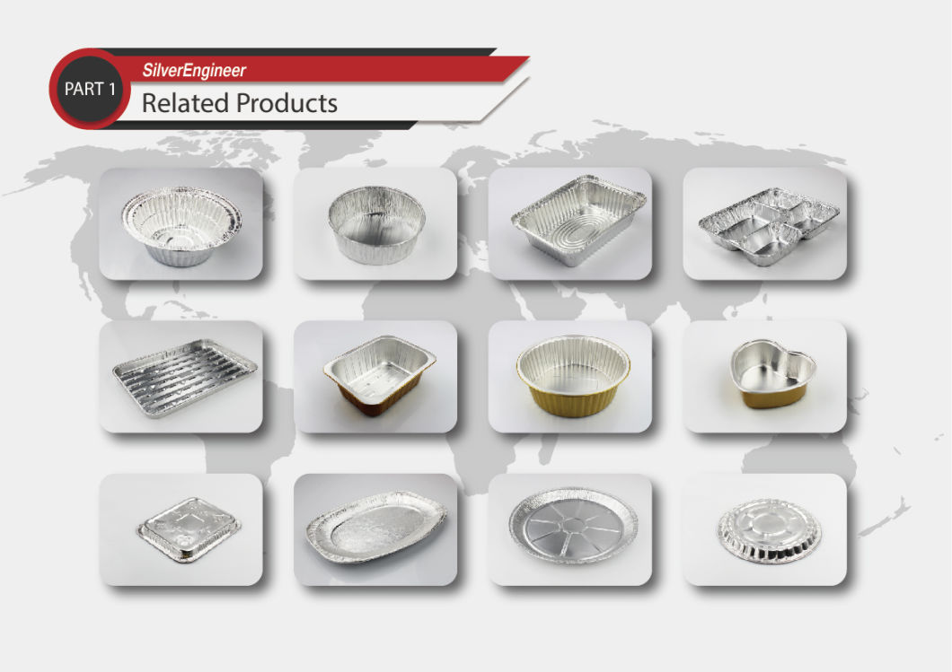 Disposable Aluminum Foil Tray for Cake Baking for Takeaway Food