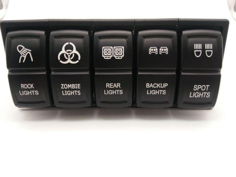 Waterproof Switch Blue LED Spot Lights Jeep Rocker Switch