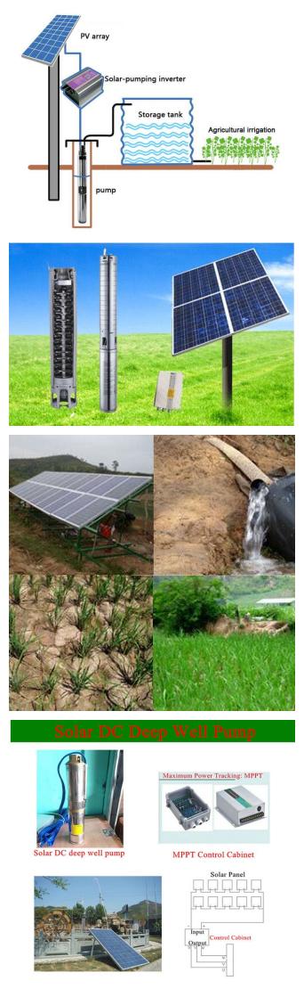 Solar Water Pump 3HP Solar Submersible Pumps