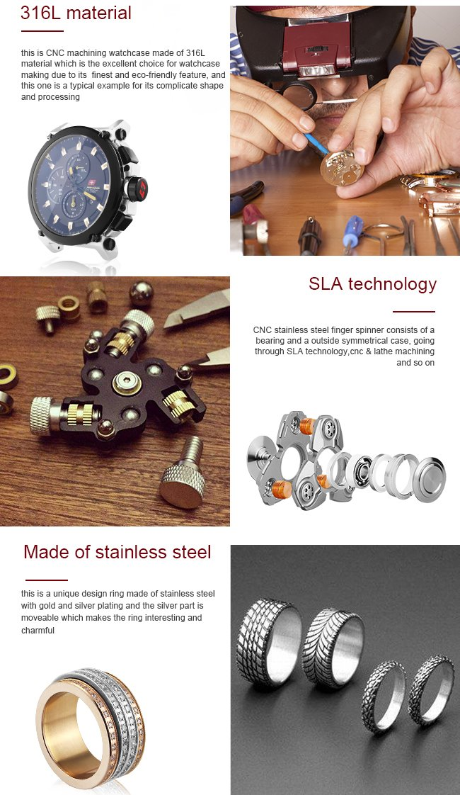 Waterproof Stainless Steel CNC Machined Watch Part