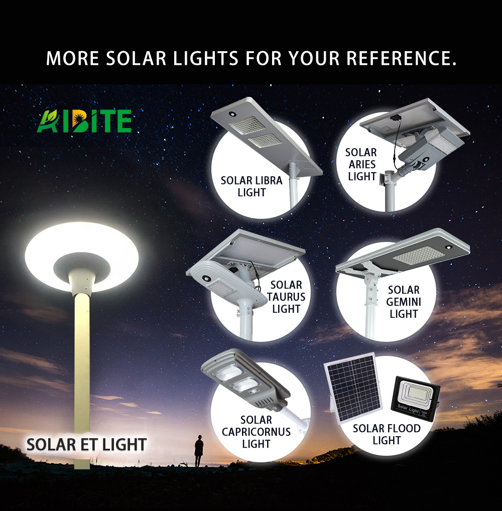 100W/120W Factory High Power Solar Rechargeable Products LED All-in-One/Integrated Street Garden Aluminium Lighting