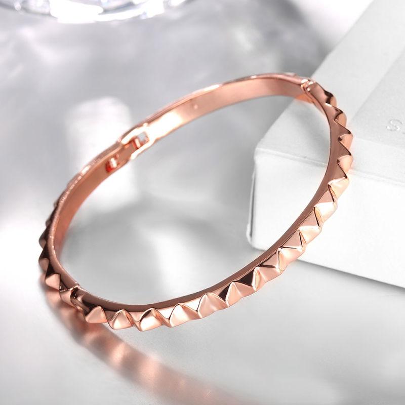 Simple Design 18k Rose Gold Women Bangle