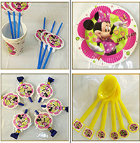 Minnie Mouse Bowtique Children's Birthday Party Tableware