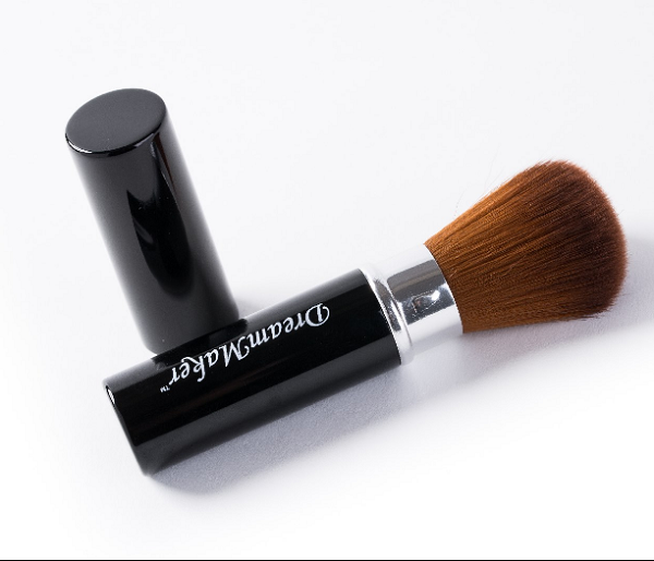Single Synthetic Brown Hair Black Ferrule Kabuki Cosmetic Brush