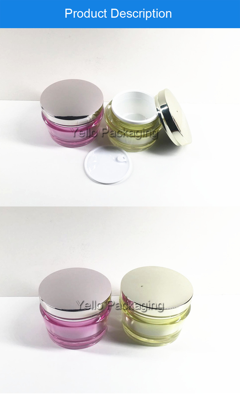 Factory Directly acrylic Cream Jar Cosmetic Container 100g