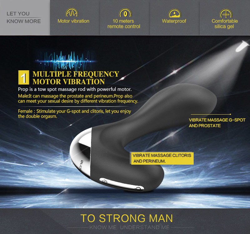 Powerful Male Prostate Massager Vibrator 7 Speeds Wireless Anal Vibration Stimulation Male Masturbation Sex Toys for Men