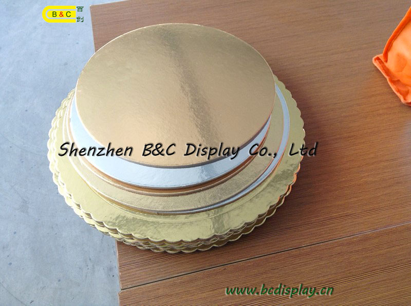 Silver Embossed Foil Corrugated Cake Boards Drum