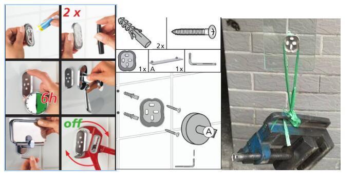 Zinc Alloy / Brass Chrome Wall Mounted Sing Towel Bar