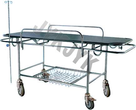 Stainless Steel Stretcher with Four Castors