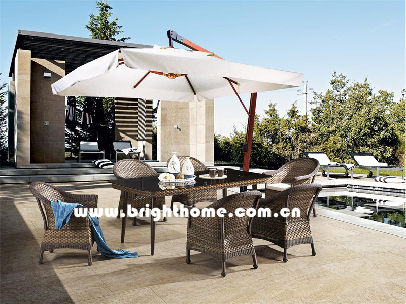 Aluminum and PE Rattan Wicker Outdoor Furniture Bp-3023c
