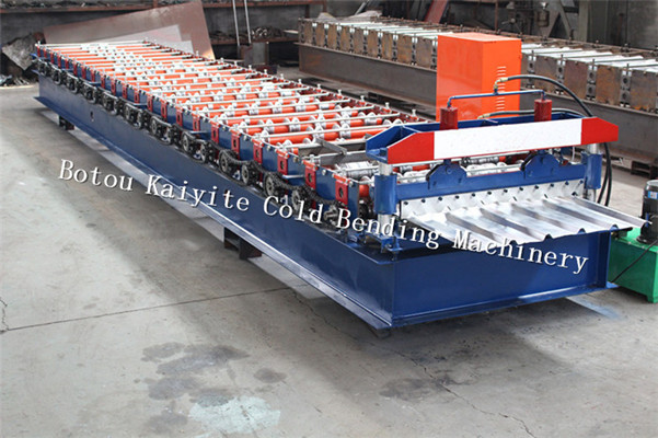 Colorful Steel Trapezoidal Tile Roll Forming Machine For India