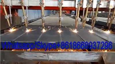 Gantry type straight line flame cnc cutting machine cutting steel