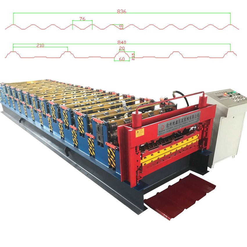 Double Layer Corrugated Roof Tile Roll Forming Machine