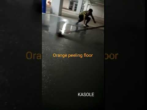 Orange peeling floor