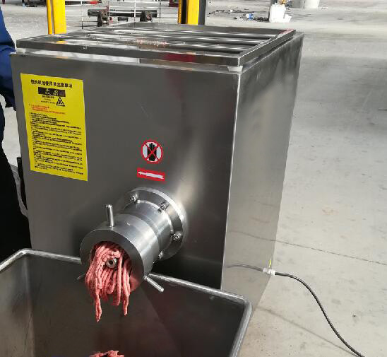 Frozen meat grinder