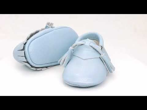 BlueTassel Soft Sole Baby Moccasins