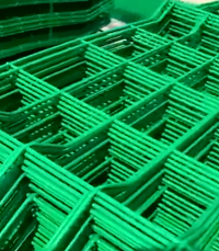 Green Welded Wire Mesh Fence Manufacture