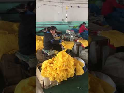 PVC raincoat production workshop