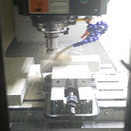 Machining aluminum sample