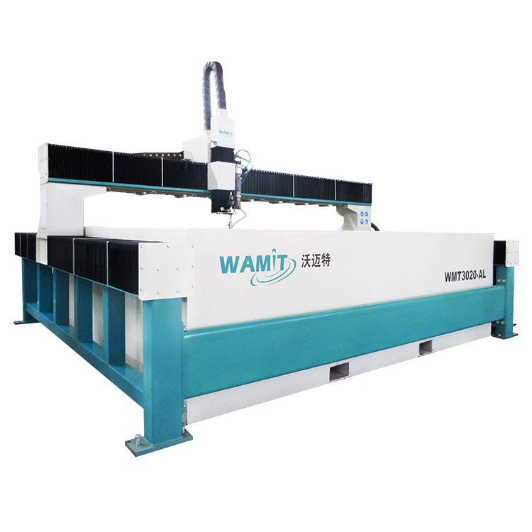 WMT3020-AL 60000psi waterjet cutting machine for 280mm steel